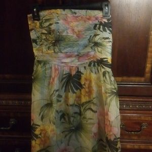 Tommy Bahama African Orchid Strapless Dress